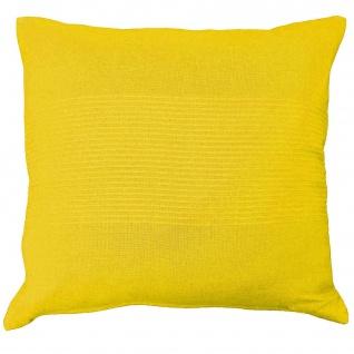 Lana Kissenhülle mit Besatz Baumwolle gewebt 40 x 40 cm, Baumwolle, gelb, 40x0.5x40 cm - Douceur d'intérieur
