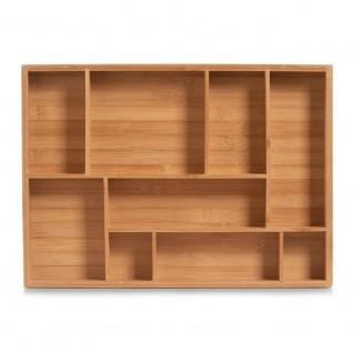 Zeller Schubladen-Organizer, Holz, natur, 44.5 x 32 x 5 cm - Vorschau 3