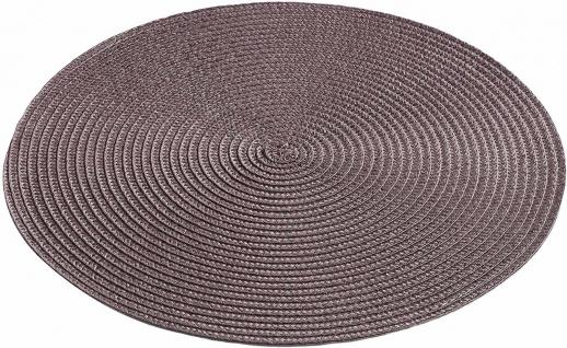 Tischset, rund, Ø 35 cm, braun, 1 Stück