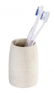 Wenko, Zahnputzbecher Goa , Kunststoff - Polyresin, beige
