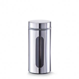Vorratsbehälter, Glas, eingeschlossen mit Visier, Fassungsvermögen 1, 2 l, silber, Zeller