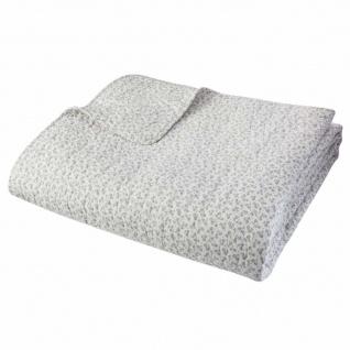 Dekorative Tagesdecke in weißer Farbe, weiche und geschmackvolle Decke, perfekte Ergänzung zum Sofa.