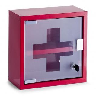 Zeller Medizinschrank, Metall / 25 x 12 x 25