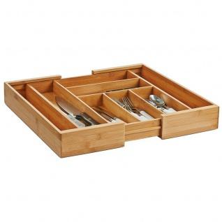 ZELLER Besteckkasten aus Bambus, ausziehbar