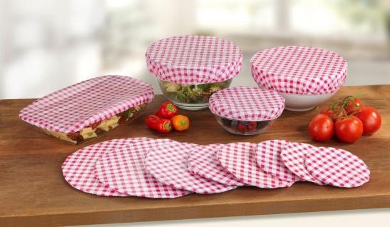 Abdeckhauben für Lebensmittelbehälter CLASSIC, 12 Stück im Set, WENKO
