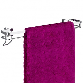 Wenko Handtuchstange Premium - Handtuchhalter, Badetuchstange, Edelstahl rostfrei, 40 x 8 x 8, 5 cm, Glänzend