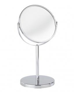 WENKO Kosmetik-Standspiegel Assisi - klappbar, 100% und 300%, Chrom, Ø 16 cm