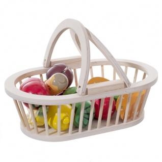 Spielzeug für Kinder KORB mit Obst und Gemüse, 25, 5 x 16 x 9 cm, Holz