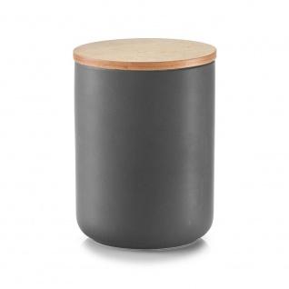 Zeller Vorratsdose, mit Bamboodeckel, 1150 ml, Keramik, 12 x 12 x 16 cm
