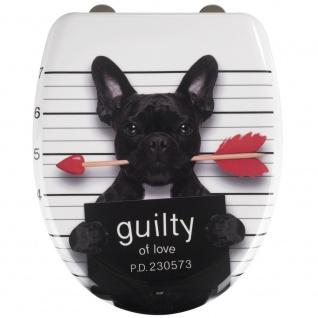 WENKO Premium WC-Sitz Guilty Dog Duroplast, mit Absenkautomatik