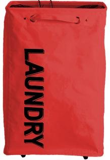 "Wäschesammler, Wäschekorb "" Laundry"" 80L, 60x40x33cm - rot"