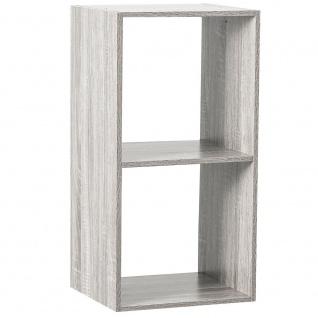 Dekoregal, weiß, 2 Fächer, Höhe 67, 6 cm