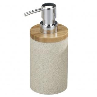 WENKO, Seifenspender Vico - Sand-Optik, Kunststoff - Polyresin, Beige