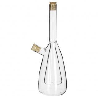 Öl- und Glasessigbehälter, 2 in 1 Öl- und Essigspender, Olivenölkaraffe