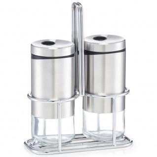 Gewürz aus Glas, Salz und Pfeffer Set, Gewürze.