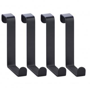 WENKO Türhaken aus Metall, 4-teilig