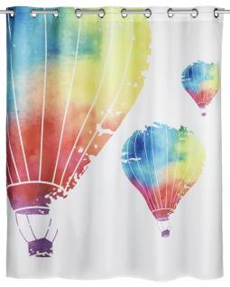 Duschvorhang mit antibakterieller Beschichtung, wasserdichter Polyestervorhang 180 x 200 cm, WENKO