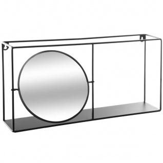 Deko-Wandregal mit Spiegel, 59 x 12 cm, Metall - Atmosphera