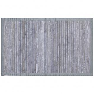 WENKO Badematte Bamboo Badvorleger mit Anti-Rutsch Beschichtung 50 x 80 cm