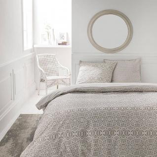 Bettwäsche aus Baumwolle, beidseitig, 220 x 240 cm, beige, gemustert