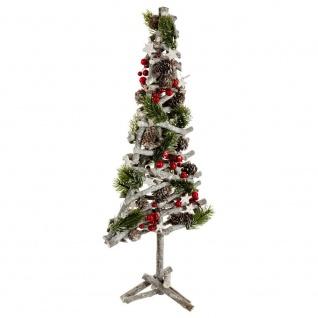 Künstlicher Weihnachtsbaum gekleidet, rot und silber, 57 cm - Fééric Lights and Christmas