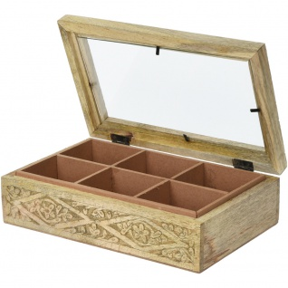 TEA BOX MANGO WOOD 265X165X75M