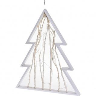 Weihnachtsbaum mit 20 LED-Hintergrundbeleuchtung, Hängedeko, weiß, 36 cm - Home Styling Collection