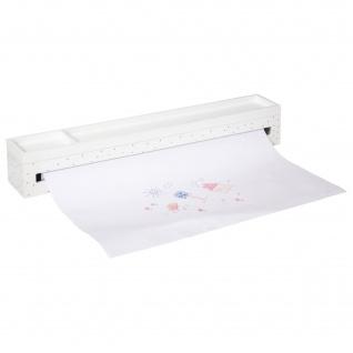 Organizer für Zeichenpapier und Buntstifte, 48 cm, weiß