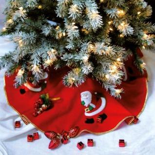 Dekomatte unter den Weihnachtsbaum mit Motiv des Weihnachtsmannes, rot - Fééric Lights and Christmas