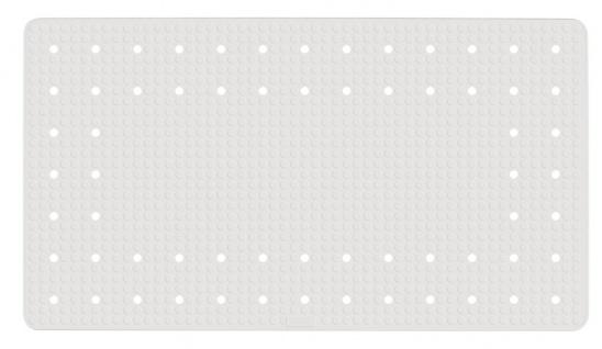 Badematte mit Saugnäpfen, rutschfeste Gummieinlage - 69 x 39 cm, WENKO