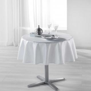 Tischdecke mit Fleckschutz, rund, Ø 180 cm, weiß