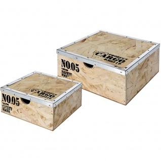 Aufbewahrungsbehälter mit Deckel, 2-er Set: 20x20x9 cm, 5und 16x16x7 cm