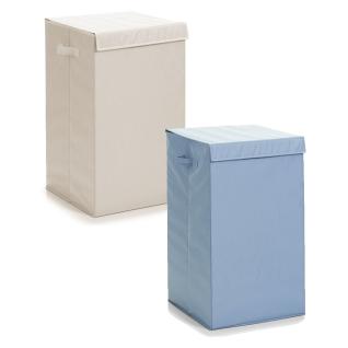 Zeller 13264 Wäschesammler, faltbar, Polyester, 35 x 35 x 60 cm, grau