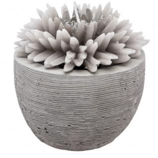 Dekokerze, weiße Blume im Zementtopf, 100g