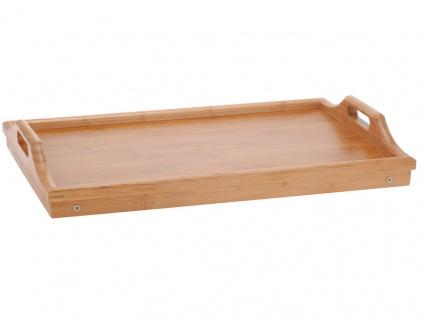 Frühstückstisch, Bambustablett mit Beinen, 50x30 cm