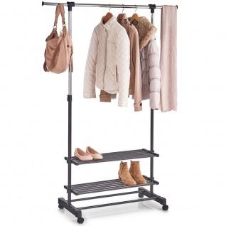 Kleiderständer mit Ablageboden Kleiderhaken Metallgarderobe Garderobe Haken Neu