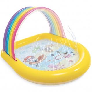 Aufblasbares Planschbecken für Kinder REGENBOGEN, mit Dusche, INTEX
