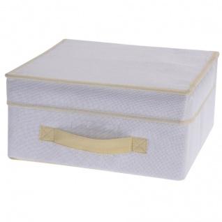 Faltbarer Textilbehälter mit Deckel 31x28x15 cm - Storagesolutions