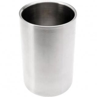 Weinkühler, Ø 12 cm, silbern, mattiert