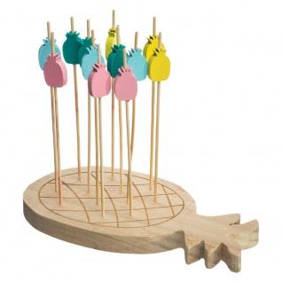 Servierbrett aus Bambus in Form von Ananas, dekoratives Tablett mit Zubehör