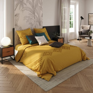 Bettwäsche-Set 220x240 cm mit 2 Kissenbezügen und Bettlaken