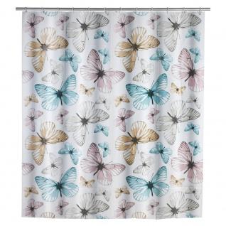 WENKO Duschvorhang Butterfly 180 x 200 cm