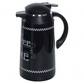 Thermoskanne für Heißgetränke 1L, Farbe schwarz - 5five Simple Smart