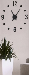 SEGNALE Wanduhr variabel 13Teile - DO IT YOURSELF Ø 40 cm