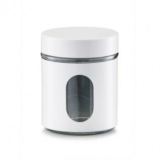 Vorratsbehälter, Glas, eingeschlossen mit Visier, Inhalt 0, 6 l, schwarz, Zeller