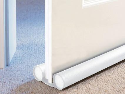 Zugluftstopper, zweiseitig, Türstopper, 40 cm, weiß, WENKO