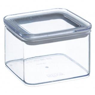Lebensmittelbehälter, transparent, eckig, mit versiegeltem Deckel, Inhalt 0, 5 Liter
