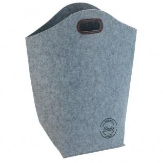 Filz Waschkorb Wenko, Farbe grau