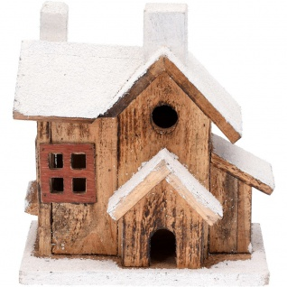 LED Cottage, Holz, Weihnachtsdeko, 20 cm - Home Styling Collection
