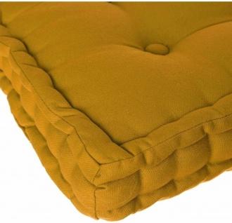 Bodensitzkissen, 40x40x8 cm, gelb - Atmosphera - Vorschau 5